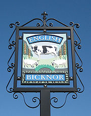 English_Bicknor_village_sign